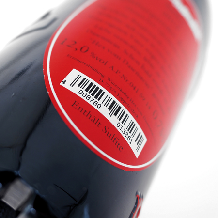 print on wine bottle