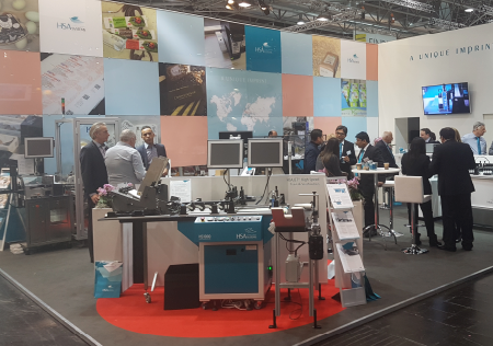 HSA Systems' stand in hall 13 at Interpack